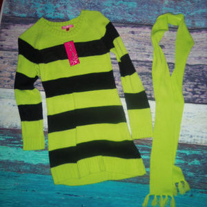 Cherry Stix Girls Sweater & Scarf L